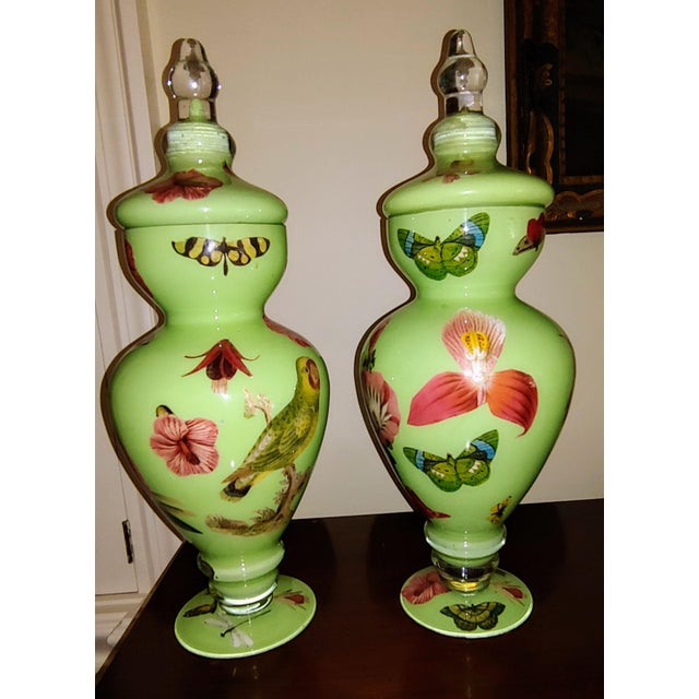 Botanical Butterfly Twigs and Moss Urns, by Susan Haas - a Pair For Sale In Pittsburgh - Image 6 of 6