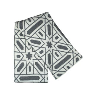 Gray & Ivory Graphic Geometric Throw Blanket