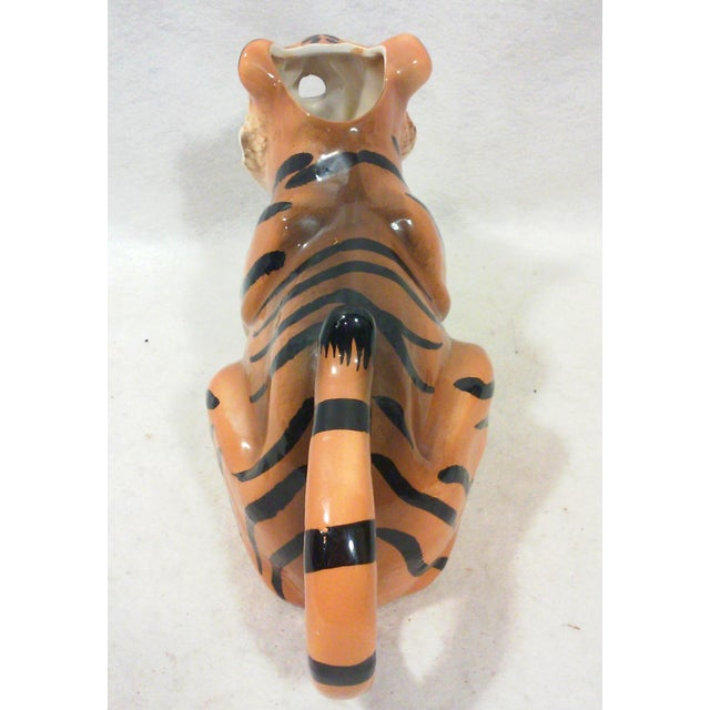 Ceramic Tiger Pitcher For Sale - Image 7 of 8