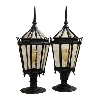 Los Angeles Streetlight Large Table Lamps - a Pair For Sale