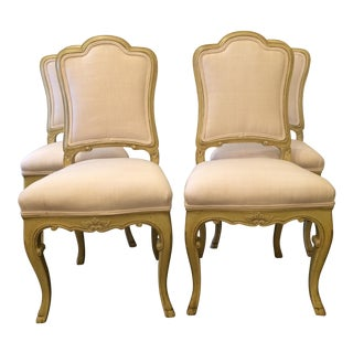 Painted Venetian Dining Chairs- Set of 4 For Sale