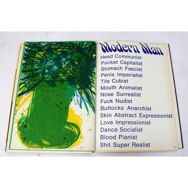 1960s 1969 Walasse Ting Mid-Century Modern Poetry & Art Book Signed For Sale - Image 5 of 10
