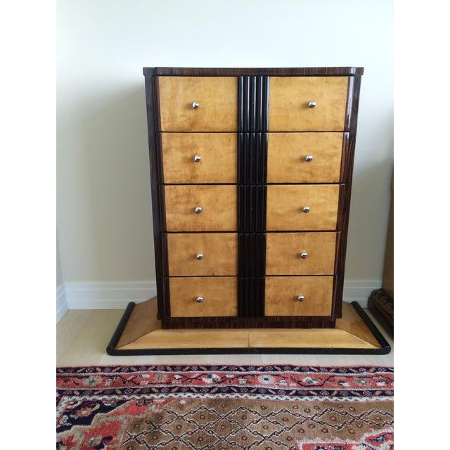 1920s Art Deco Zebra Wood Dresser - Image 2 of 7