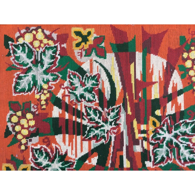 Colorful Jungle Inspired Needlepoint - Image 4 of 6