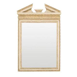 George II Broken Arch Pediment Mirror For Sale