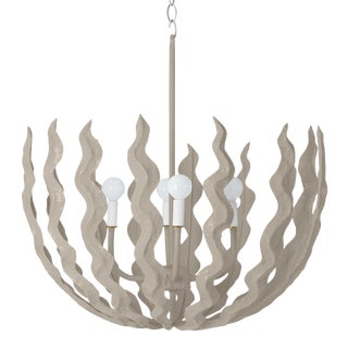 Stray Dog Designs for Chairish Chucho Chandelier, Gray For Sale