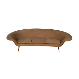 Mid Century Kerstin Horlin Holmquist Swedish Curved Sofa For Sale
