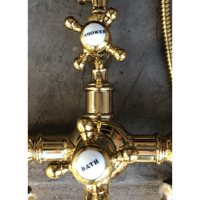 Early 21st Century French Style Telephone Shower Head With Bathtub Diverter For Sale - Image 5 of 7