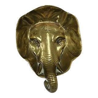 Antique Brass Elephant Change Dish