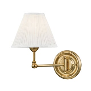 Classic No.1 1 Light Wall Sconce - Aged Brass For Sale