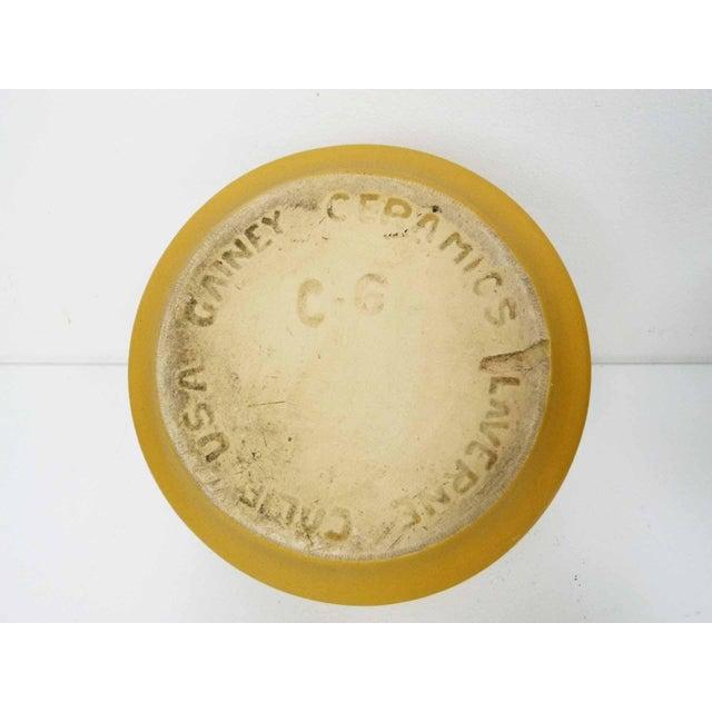 Danish Modern Gainey Ceramics Mustard Yellow Planters - Set of 3 For Sale - Image 3 of 10