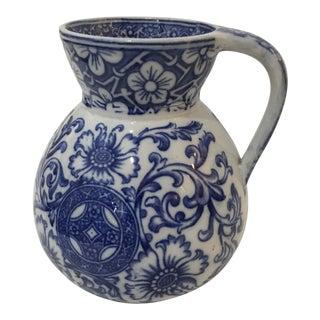 Beautiful Blue & White Porcelain Floral Jug