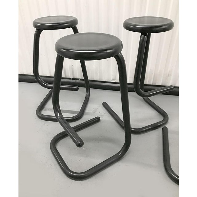 """1970s """"Paperclip"""" Bar Stools by Haworth for Kinetic For Sale - Image 9 of 10"""