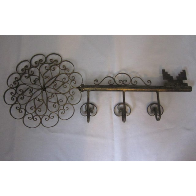 Italian Tole Wall Hook For Sale - Image 4 of 6
