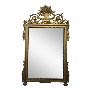 19th Century French Gold Wall Mirror