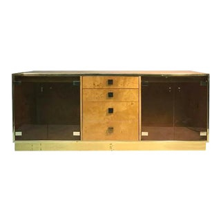 Milo Baughman Burlwood Four-Drawer Sideboard
