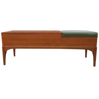 Vintage Teak Compartment Bench by Nathan 1916 For Sale