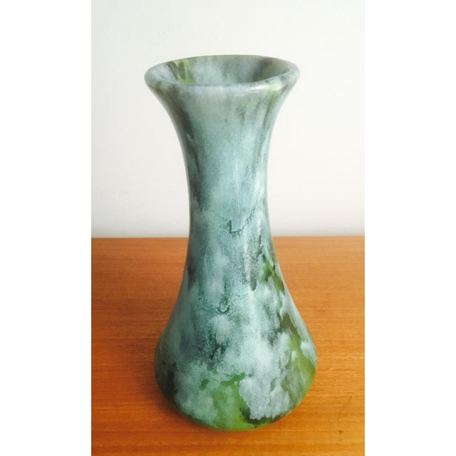 1960s Drip Glaze Art Pottery Vase - Image 3 of 7