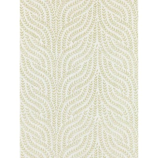 Sample, Scalamandre Willow Vine Embroidery, Celery Fabric For Sale