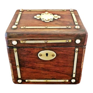 19c British Colonial Single Tea Caddy
