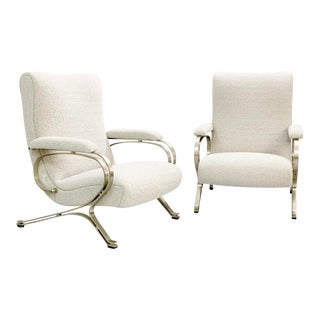 """1970s """"Micaela"""" Armchairs by Gianni Moscatelli - Formanova - a Pair For Sale"""