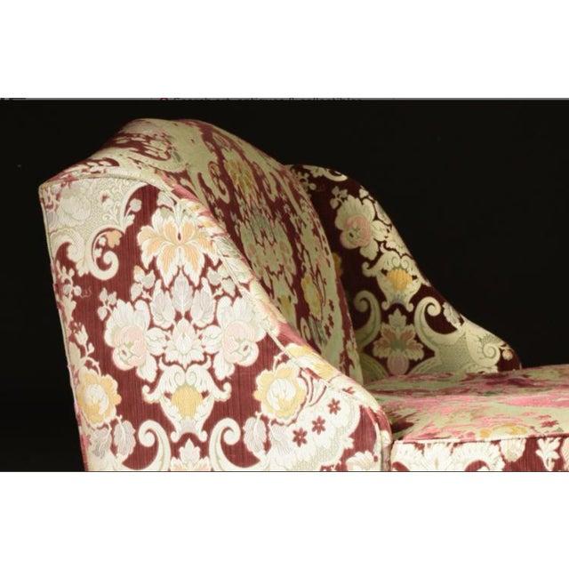 Velvet Chaise Lounge by John Widdicomb - Image 6 of 8