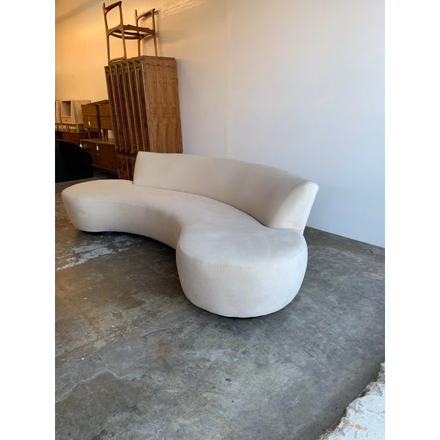 Cloud sofa in a high performance velvet now available. This item was used a few time for staging other than that item...