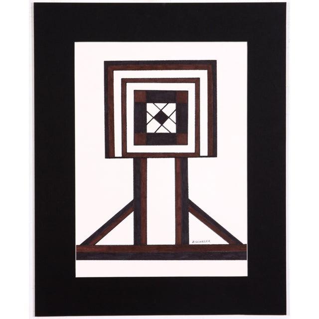 Geometric Inlay Drawing - Image 1 of 4