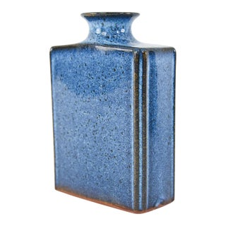Askel Denmark Mid-Century Danish Blue Vase For Sale