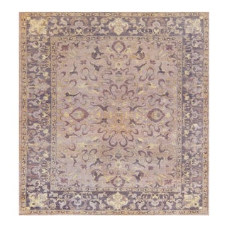 "Transitional Mansour High Quality Agra Square Rug - 9'3"" X 9'9"" For Sale"