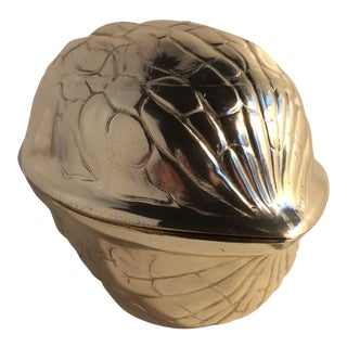 Silver Plated Walnut Shaped Nut Dish by F.B. Rogers For Sale
