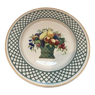 "Villeroy & Boch ""Basket"" Pattern Flat Cake Plate For Sale"
