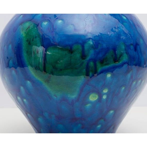 Italian Mid Century Modern Blue Green Ceramic Art Pottery Lamp Chairish