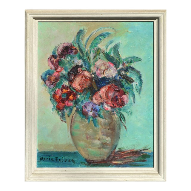 Mid-Century Floral Still Life For Sale