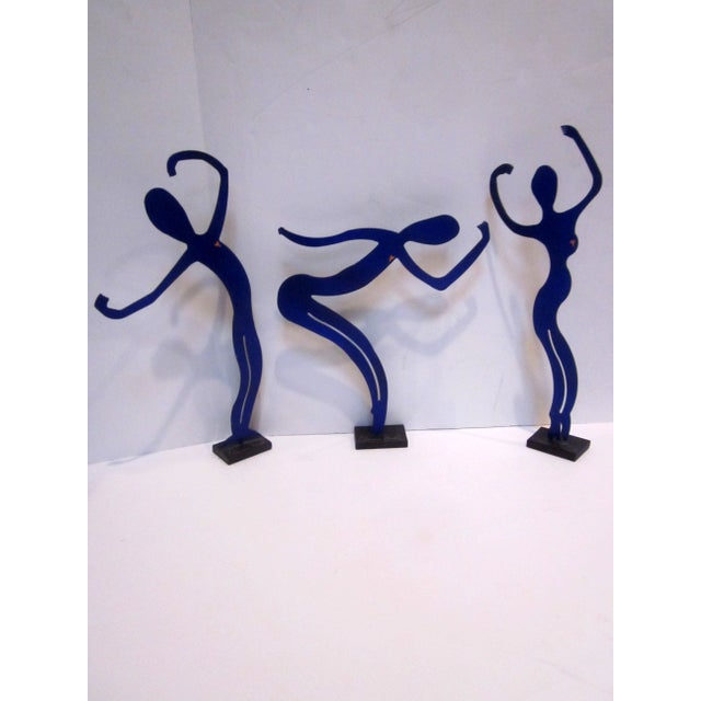 Modernist Abstract Dancer Steel Sculptures - Set 3 - Image 3 of 6