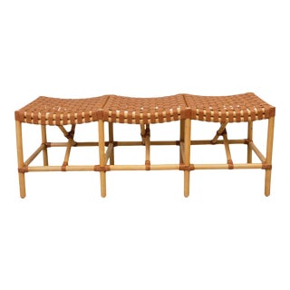 Malibu Bench, Beige, Rattan For Sale