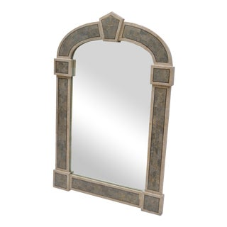 Tessellated Stone over Wood Gothic Shaped Wall Mirror For Sale