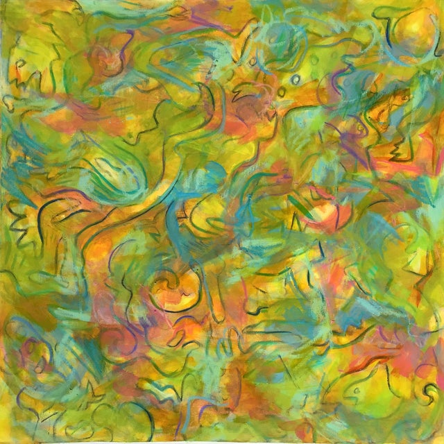 """Aerie"" Abstract Painting by Trixie Pitts - Image 1 of 3"