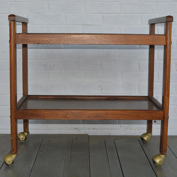 Walnut Two-Tiered Bar Cart - Image 3 of 11