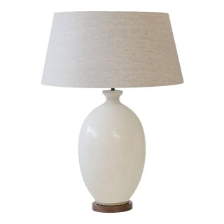 White Ceramic Vase Lamp For Sale