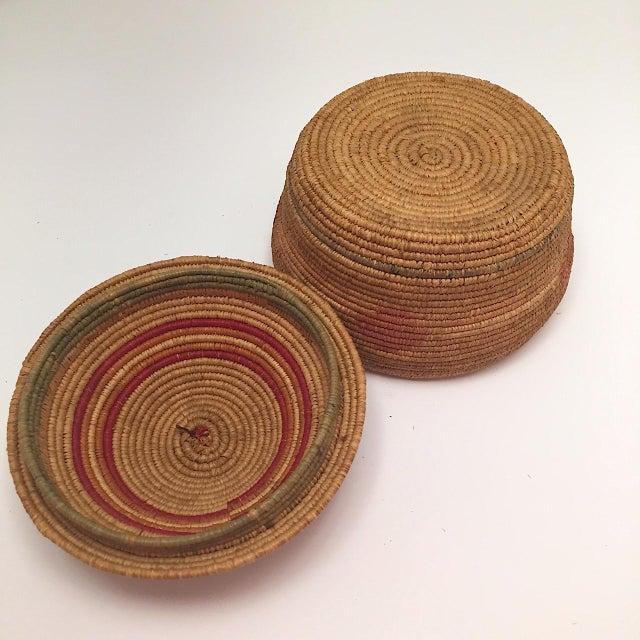 Northwest Coast Salish Lidded Coiled Basket For Sale - Image 11 of 13