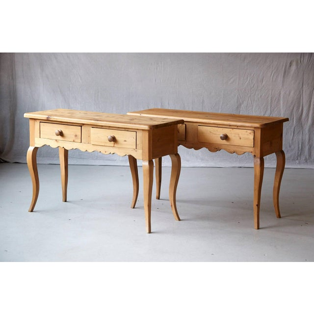 Pine English Country Style Pine Console 2 of 2 For Sale - Image 7 of 9