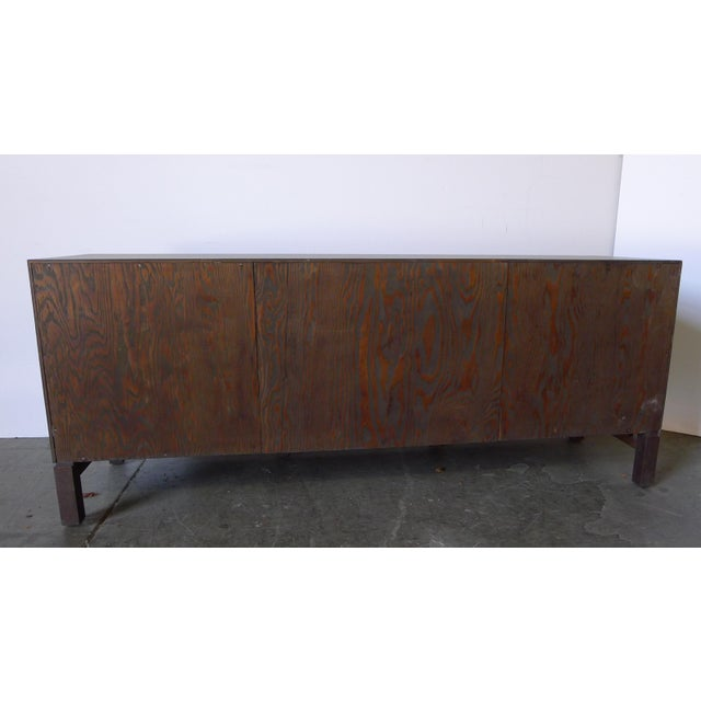 Mid-Century Low Walnut Cabinet For Sale - Image 4 of 7
