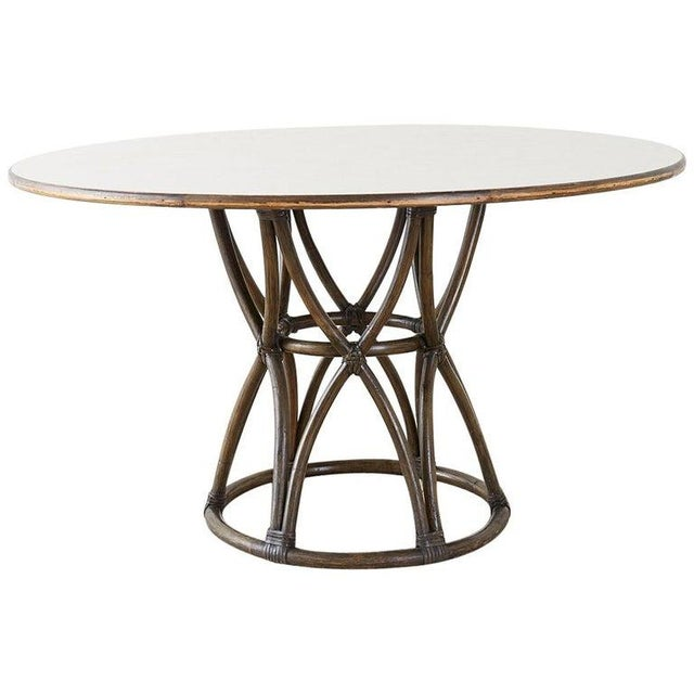 McGuire Organic Modern Round Game or Dining Table For Sale - Image 13 of 13