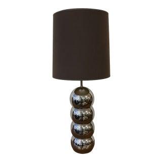 Mid-Century Modern Chrome Ball Table Lamp For Sale