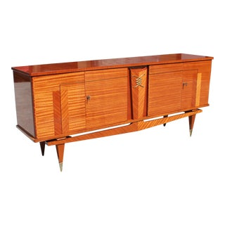 Beautiful French Art Deco Exotic Mahogany Sideboard / Buffet Circa 1940s.