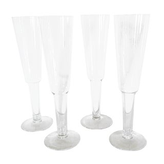 Hollow-Stem Champagne Flutes - Set of 4 For Sale