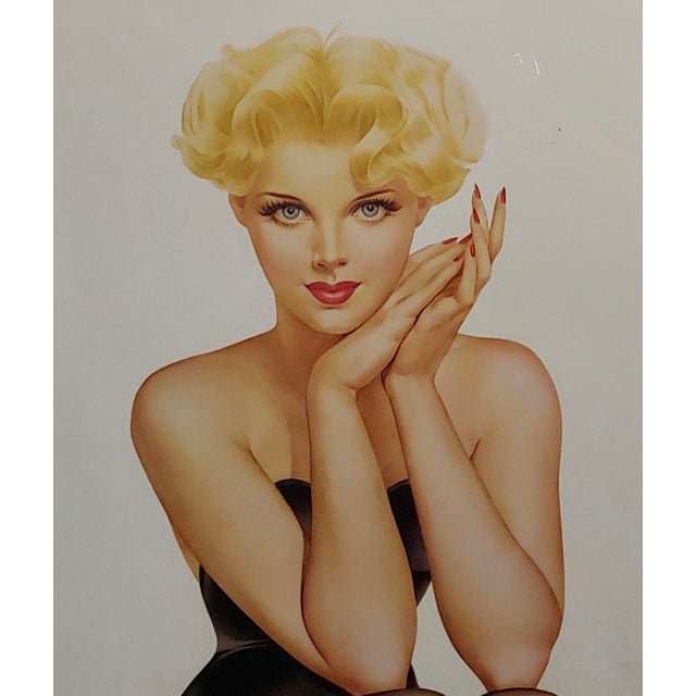 1940s Alberto Vargas -Cover Girl 1944 -Beautiful Pin-Up Limited Edition Lithograph For Sale - Image 5 of 11
