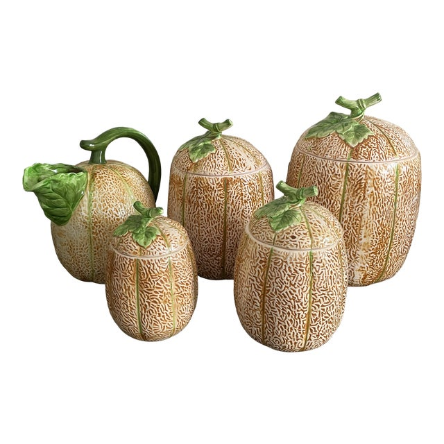 The Haldon Group Melon Pitcher & Canister Set - 5 Pieces For Sale