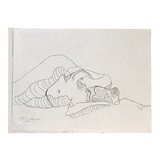 Reclining Nude drawing For Sale